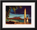 Outrigger and Diamond Head Prints by Stewart Fern