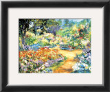 Monet's Garden in June Poster by Jean Lamoureux