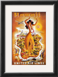 United Airlines, Hula Dancer Posters