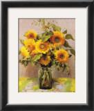 Fleurs de tournesols Print by Marcel Dyf