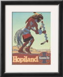 Santa Fe Railroad: Hopiland, c.1940's Prints by Don Perceval