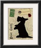 Scottie Silhouette Art by Nancy Shumaker Pallan