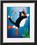 Snorkel Kitty Poster by Peter Powell