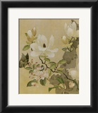 Magnolia and Butterfly Print