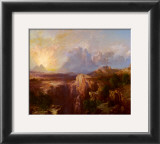 Rock Towers of the Rio Virgin Print by Thomas Moran