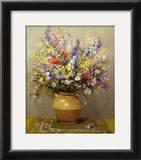 Bouquet dans un vase de gres Art by Marcel Dyf