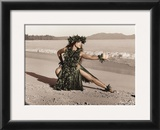 Dance of the Turtle, Hula Girl Prints by Alan Houghton