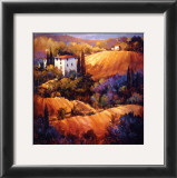 Evening Glow Tuscany Prints by Nancy O'toole