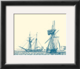 Sailing Ships in Blue IV Posters by Jean Jerome Baugean