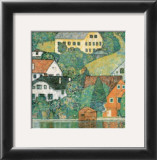 Houses at Unterach Art by Gustav Klimt