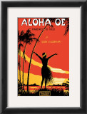Aloha Oe Music Sheet Prints by LeMorgan 