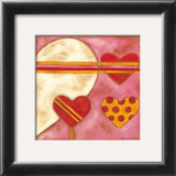Pop Hearts I Print by Nancy Slocum