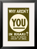 Why Aren&#39;t You in Khaki Art