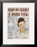 Oh! My God! I Miss You! c.2001 Print by Yoshitomo Nara