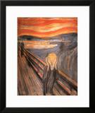 O Grito, cerca de 1893 Poster por Edvard Munch