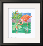Flamingo Paradise  Repose Prints by Paul Brent