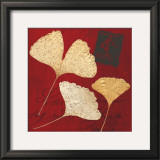Crimson Ginkgo Prints by Booker Morey