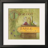 Tuscan Table Prints by Angela Staehling