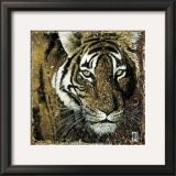 Tiger Portrait Print by Fabienne Arietti
