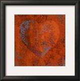 Cuore Orange Poster by Roberta Ricchini