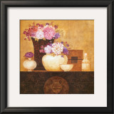 Still Life, Flowers on Antique Chest II Poster by Eric Barjot