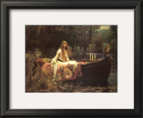 Lady of Shalott Art by John William Waterhouse