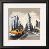 New York, Flatiron Building Art by Sandrine Blondel