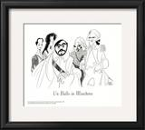 Un Ballo in Maschera, with Pavarotti Poster by Al Hirschfeld
