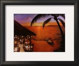 Tahitian Sunset Art by David Marrocco