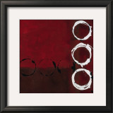 Red Circles II Prints by Laurie Maitland