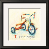 T is for Tricycle Prints by Catherine Richards