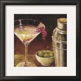 Martini with Grapes I Prints by Eric Barjot