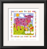 Purple Cow Prints by Cheryl Piperberg