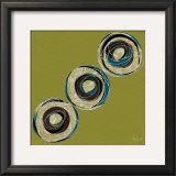 Olive Circles Poster by Alan Buckle