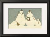 Snow Family Prints by Warren Kimble