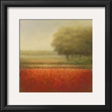 Autumn Field Print by Hans Dolieslager