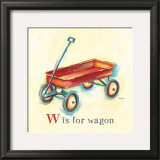 W is for Wagon Poster by Catherine Richards