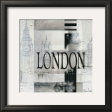 Tribute to London Posters by Marie Louise Oudkerk