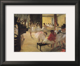 Ballet School Print by Edgar Degas