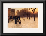 Boston Common at Twilight, 1885-86 Print by Childe Hassam