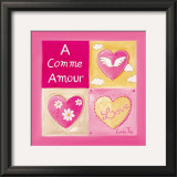 A Comme Amour Prints by Lynda Fays