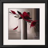 En Rouge et Gris I Poster by Olivier Tramoni