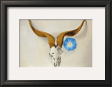 Ram's Head, Blue Morning Glory Poster by Georgia O'Keeffe