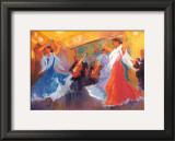 La Celebracion del Baile Print by Sharon Carson