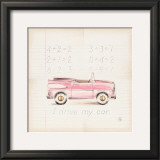 Pink Car Posters by Lauren Hamilton