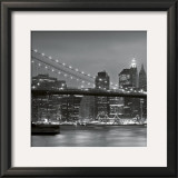 Downtown Manhattan and Brooklyn Bridge Poster by Torsten Hoffmann