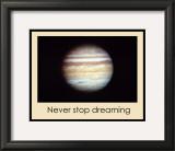 Never Stop Dreaming Framed Giclee Print