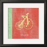Vintage Toys Tricycle Print by Paula Scaletta
