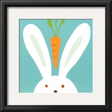 Peek-a-Boo I, Rabbit Print by Yuko Lau
