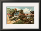 American Homestead Summer Prints by Currier &amp; Ives 